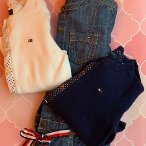 Tommy Hilfiger Denim dress and Sweaters